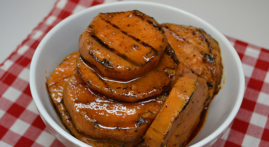 Cajun Style Sliced Sweet Potatoes