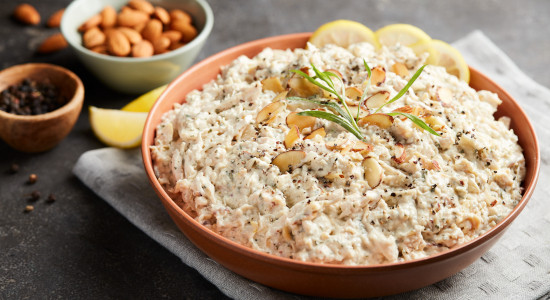 Chicken Salad with Almonds in Lemon Dressing- Made with white meat chicken