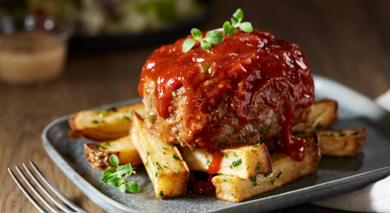 Mini Beef Meatloaf with Sauce